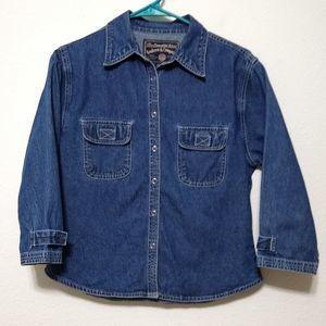 Vintage Andrew & Co denim button up shirt